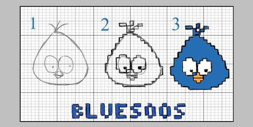Découvrez Le Pixel Art Bluesoos
