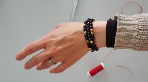 Bracelet à message codé un secret à partager avec maman